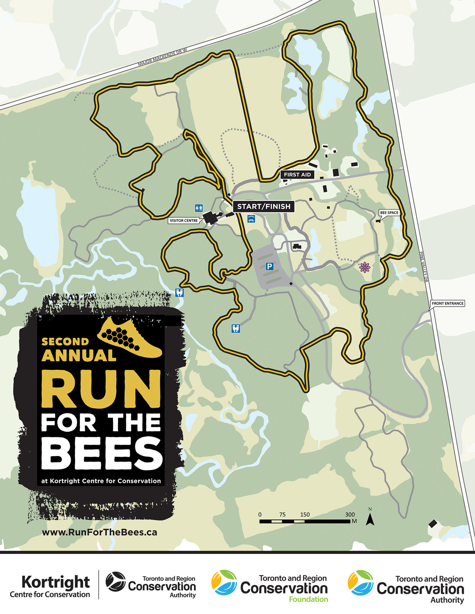 Run for the Bees route map
